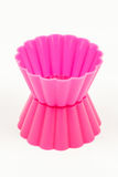 Pink silicone cake cups Royalty Free Stock Photo