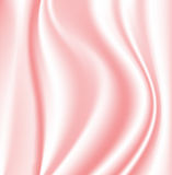 Pink silk. Vector pink silky texture, curtain Royalty Free Illustration