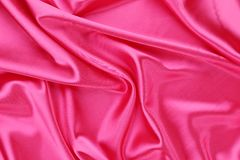 Pink silk background. Texture. Stock Photography