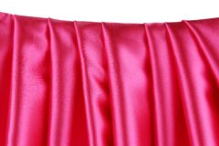 Pink silk drape. Stock Photos