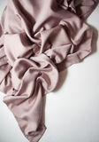 Pink silk drapery Stock Photos