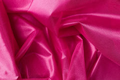 Pink silk fabric background Stock Photography