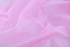 Pink silk fabric Stock Photography