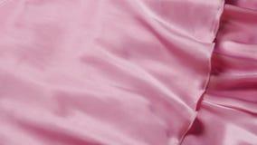 Pink silk nightie. stock footage