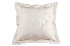 Pink silk pillow Stock Image