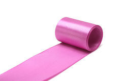Pink silk ribbon Royalty Free Stock Photography