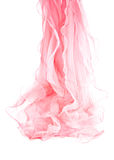 Pink silk scarf. Isolated on white background Stock Image