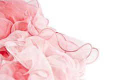 Pink silk scarf Stock Images