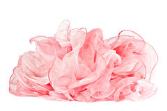 Pink silk scarf Stock Photos