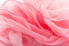 Pink silk scarf. Stock Images