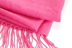 Pink silk scarf Royalty Free Stock Image