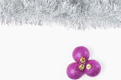 Pink and silver Christmas background Stock Image