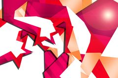 pink and silver design border, abstract background Royalty Free Stock Images