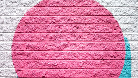 Pink and Silver Gray Blue Brick Wall Background Royalty Free Stock Images