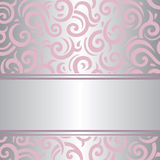 Pink & silver invitation vintage retro vector wallpaper design Stock Image