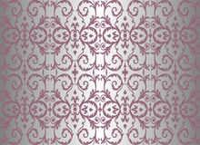 Pink & silver vintage wallpaper Royalty Free Stock Photography