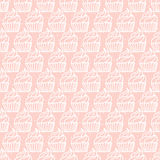 Pink simple cupcake seamless pattern Stock Images