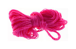 Pink six strand floss Royalty Free Stock Images
