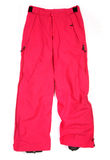 Pink ski pants. Isolated on white Stock Photography