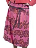 Pink skirt. The pink colored skirt with flowers on white Royalty Free Stock Photography