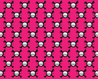 Pink skull pattern Royalty Free Stock Image