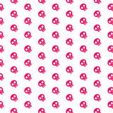 Pink skull patterns Stock Photo
