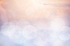 Pink sky bokeh background. Royalty Free Stock Images