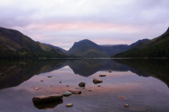 Pink sky Buttermere 1 Stock Image