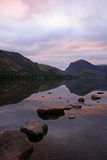 Pink sky Buttermere 3 Royalty Free Stock Photo