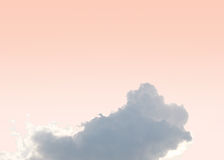 Pink sky cloud sunshine day Stock Photography
