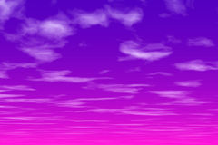 Pink sky at night. Background Stock Photos