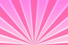 Pink sky with rays. Abstract background with sunrays, sun, sunbeams, beams, dawn, sunrise. Retro banner, flyer card Vector illustration Royalty Free Stock Photography