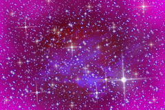 Pink sky and stars Royalty Free Stock Image