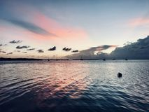 Pink skys royalty free stock images