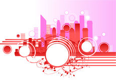Pink skyscrapers Royalty Free Stock Images