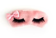 Pink sleeping mask Royalty Free Stock Photography