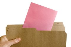 Pink slip layoff notice Royalty Free Stock Image