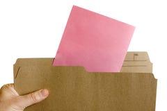 Pink slip layoff notice royalty free stock image