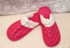 Pink slippers Royalty Free Stock Images
