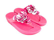 Pink slippers Royalty Free Stock Photo