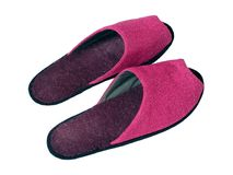Pink slippers Stock Photography