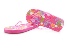 Pink slippers Royalty Free Stock Photos