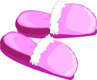 Pink Slippers Royalty Free Stock Photography