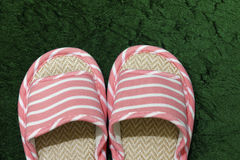 Pink slippers Stock Photos