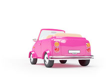 Pink small car back Stock Image