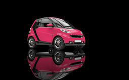 Pink Small Car Royalty Free Stock Photography