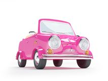 Pink small car Royalty Free Stock Image