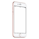 Pink smart phone mock up slightly CCW rotated with blank screen Stock Photos