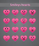 Pink smiles on the day of Valentine Stock Image