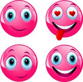 Pink smiley ball Royalty Free Stock Images